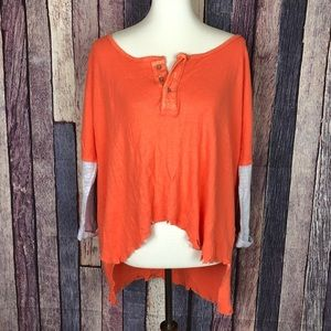 New We The Free Free People Distressed Top S